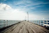 Seaside boardwalk in Brisbane — Stock Photo