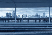 Modern train station — Stock Photo