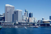 A harbour scene, Darling Harbour, Sydney, New South Wales, Austr — 图库照片