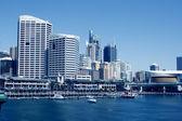 Une scène portuaire, darling harbour, sydney, nouvelle-galles du sud, austr — Photo