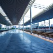 Stock Photo: Modern train station