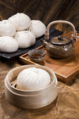 Chinese food, steamed bun — Stock Photo