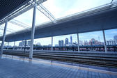 Modern train station — Stock Photo