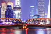 Shanghai international metropolis night — Stock Photo