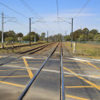 Railway crossing in Brisbane — Stock Photo