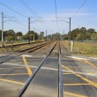 Stock Photo: Railway crossing in Brisbane