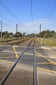 Railway crossing in Brisbane — Stock Photo