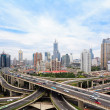 Concrete road curve of viaduct in shanghai china outdoor — Foto de Stock