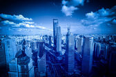 Shanghai pudong şehir kurma — Stok fotoğraf