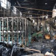 Stock Photo: Textile mill fire scene