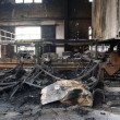 Textile mill fire scene — Foto Stock