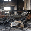 Textile mill fire scene — Stock Photo