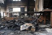 Textile mill fire scene — Stock Photo