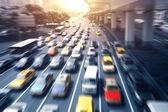 高速道路、自動車走行 — ストック写真