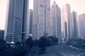 Shanghai of the lujiazui financial center — Stock Photo