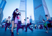 Shanghai Pudong people — Stock Photo