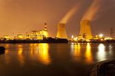 Thermal power plant at dusk — Stockfoto