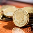 Australian coins, Soft focus, shallow DOF — Stock Photo