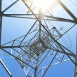 Electricity high voltage power pylon — Stock Photo