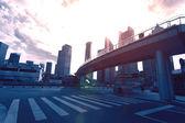 China Shanghai Pudong, city building — Stock Photo