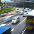 Hong Kong, busy city highway — Stock Photo