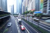 Hong Kong, busy city highway — Stock Photo