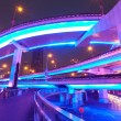 Shanghai, highway overpasses night — Stock Photo