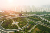 Aerial view of highway viaduct — Stock Photo