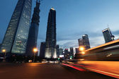 Shanghai city car light trails — Stock Photo