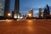 Shanghai city car light trails — Stock Photo