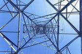 High voltage power pylon — Stock Photo