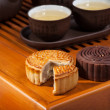 Moon cakes for the Chinese Mid-autumn festival — Stock Photo