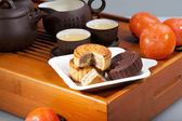 Moon cakes for the Chinese Mid-autumn festival — Foto Stock