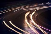 Car light trails — Stock Photo