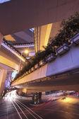 上海,公路立交桥的夜晚 — 图库照片