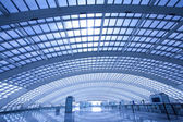 Modern hall of subway station at T3 airport in beijing china — Stock Photo