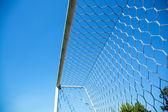 Partial close the door of football — Stok fotoğraf