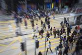 Pedestrians in Hong Kong — Stock Photo