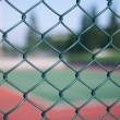 Stock Photo: Seen through steel mesh