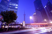 Shanghai Pudong night highway — Stock Photo