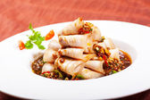 China Sichuan dishes pork slices — Stock Photo