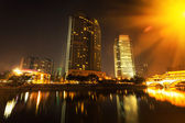 China Chengdu City Night — Stockfoto