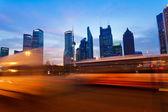 Shanghai Pudong City Night — Stock Photo