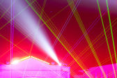 Stage lighting effects — Stock Photo