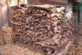 Firewood pile — Stock Photo