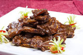 Chinese dish, black pepper steak — Stock Photo