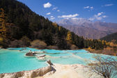 China Huanglong landforms — Foto Stock