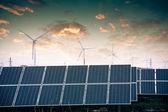 Solar power systems — Foto Stock