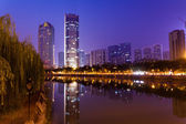 China Chengdu City Night — Стоковое фото