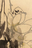 Chinese painting on paper, local — Foto Stock